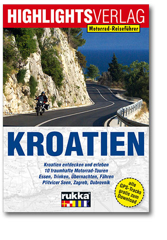 Buchcover Motorrad-Reiseführer Kroatien | Heel Verlag