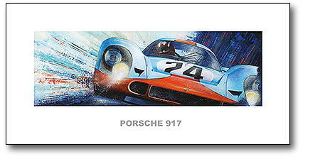 Abbildung Kunstdruck Porsche 917 Jo Siffert Heel Verlag