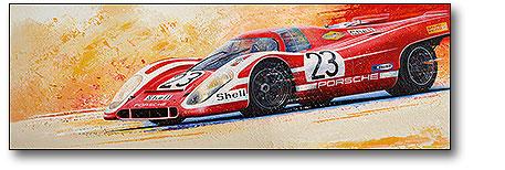 Abbildung Leinwand Porsche 917 Hans Herrmann von S.Imhof vom Heel Verlag