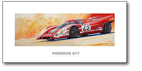 Abbildung Kunstdruck Porsche 917 Hans Herrmann von Steffen Imhof vom Heel Verlag