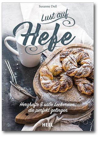 Buchcover Hefe - Herzhafte & süße Leckereien vom Heel Verlag