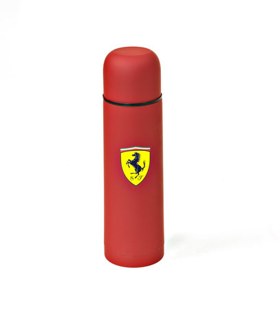 Original Ferrari Thermosflasche aus Edelstahl in rot | Heel Verlag