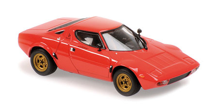 Cover Originalgetreues Modell Lancia Stratos (Rot) 1:43   Heel Verlag