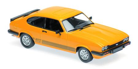 Originalgetreues Modell Ford Capri (Orange) 1:43 | Heel Verlag