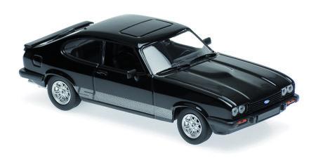 Originalgetreues Modell Ford Capri (Schwarz) 1:43   Heel Verlag