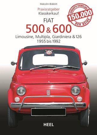 Buchcover Praxisratgeber Klassikerkauf: Fiat 500 & 600 | Heel Verlag