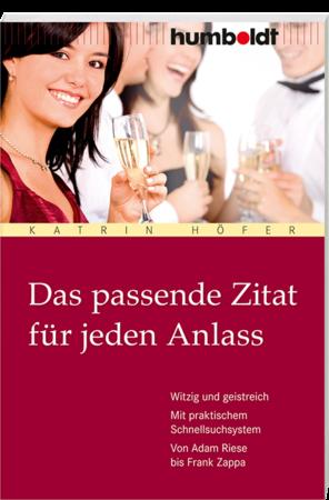 Buchcover Das passende Zitat für jeden Anlass | Heel Verlag