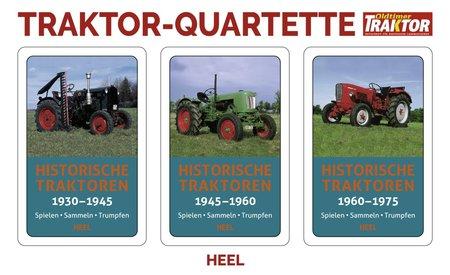 Cover Traktor Quartette: Historische Traktoren | Heel Verlag