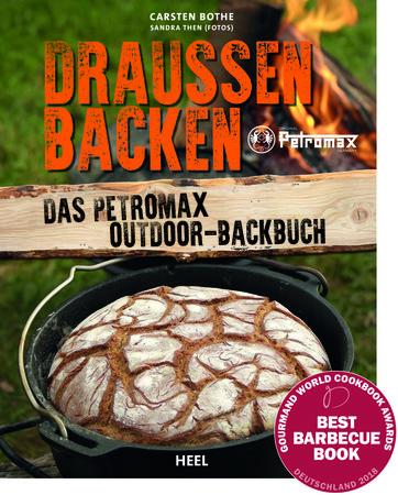 Buchcover Draußen Backen - Das Petromax Outdoor backbuch| Heel Verlag
