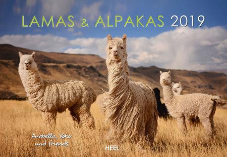 Cover Kalender Lamas und Alpakas 2019 vom Heel Verlag