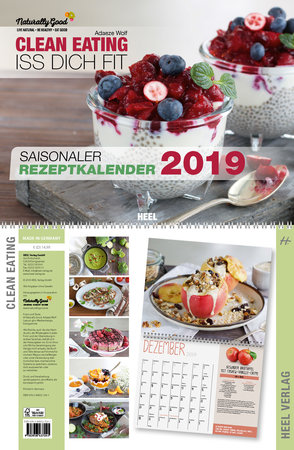 Cover Clean-Eating-Kalender 2019 vom Heel Verlag