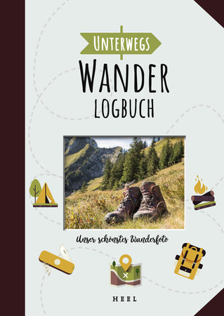 Buchcover Unterwegs: Wander-Logbuch | Heel Verlag