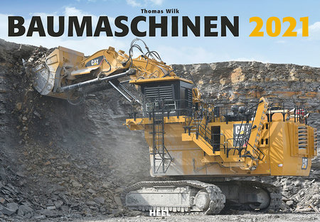 Kalendercover Baumaschinen 2021   Heel Verlag