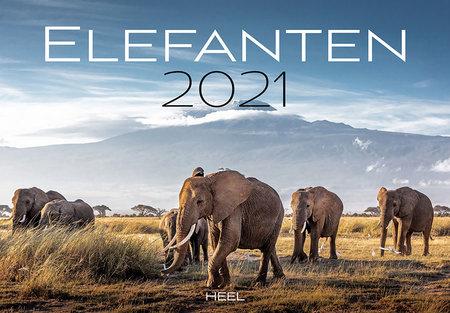 Kalendercover Elefanten 2021 - Heel Verlag