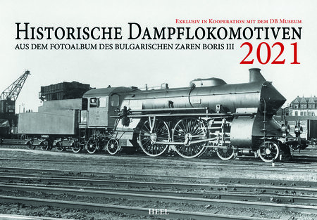 Kalendercover Historische Dampflokomotiven 2021 | Heel Verlag