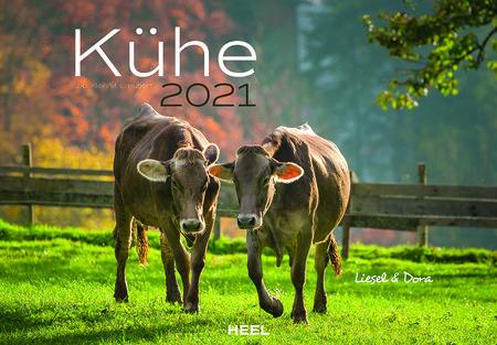 Kalendercover Kühe 2021 | Heel Verlag