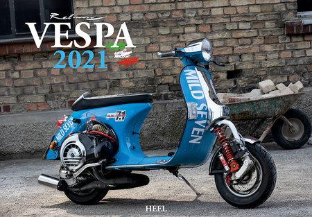 Kalendercover Vespa 2021 - La dolce Vita auf zwei Rädern   Heel Verlag