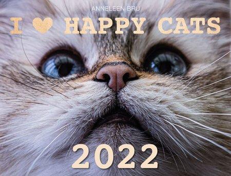 Kalendercover I love happy cats - der glückliche-Katzen-Kalender 2022 | Heel Verlag
