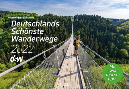 Kalendercover Deutschlands schönste Wanderwege 2022  Heel Verlag