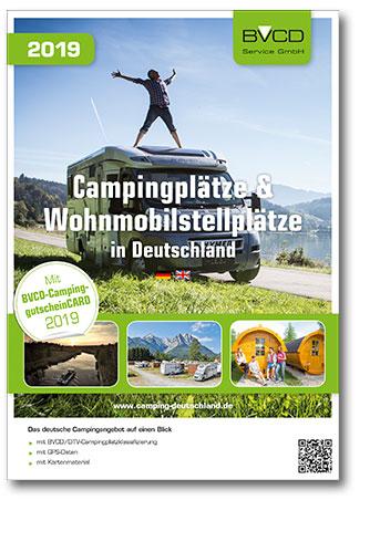 Buchcover BVCD-Campingführer 2019 vom Heel Verlag