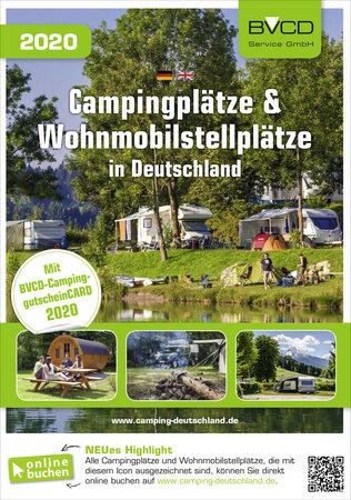 Buchcover BVCD Camping- und Wohnmobilstellplätze 2020 | Heel Verlag