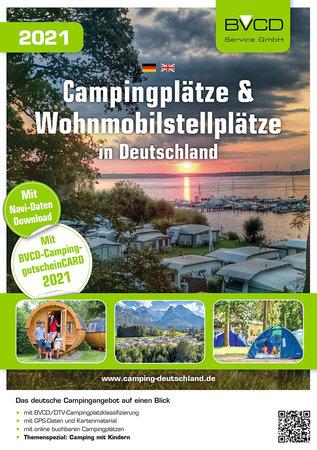 BUchcover BVCD-Campingführer Deutschland 2021 | Heel Verlag