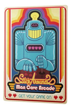 Artikelbild Vintage-Blechschild: Man Cave Arcade | Heel Verlag
