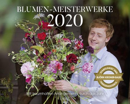 Cover Kalender Blumen-Meisterwerke 2020 vom Heel Verlag