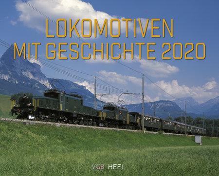 Cover Kalender Lokomotiven mit Geschichte vom Heel Verlag