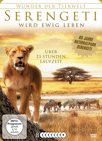 Cover Die Serengeti wird ewig leben (8 DVDs) | Heel Verlag