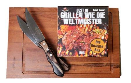 Artikelbild Grillen Männer-Set. Rezeptkarten und Steakmesser | Heel Verlag