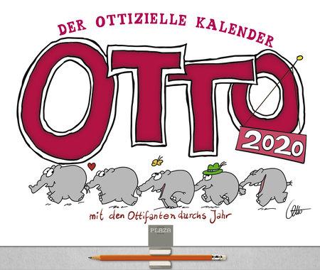 Kalendercover Eintragkalender Mit den Ottifanten durchs Jahr 2020 | Heel Verlag