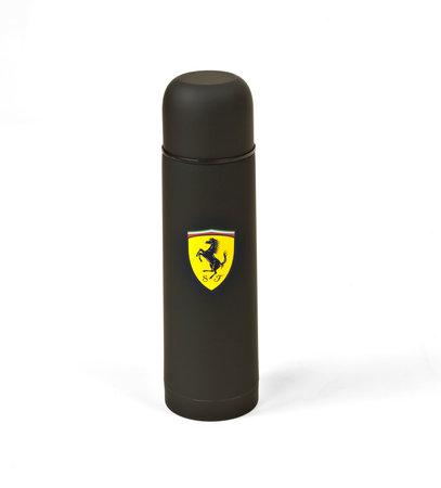 Original Ferrari Thermosflasche aus Edelstahl in schwarz   Heel Verlag
