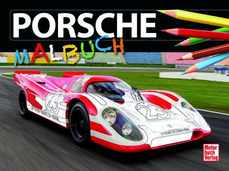 Buchcover Porsche Malbuch | Heel Verlag