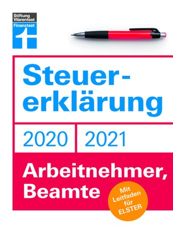 Buchcover Stiftung Warentest Steuererklärung für 2020/21   Heel Verlag
