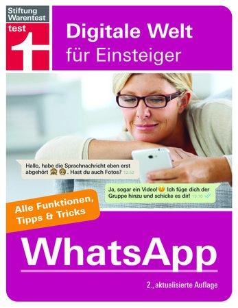 Buchcover Stitfung Warentest: Sicherer Umgang mit WhatsApp | Heel Verlag