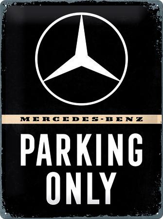 Artikelbild Vintage-Blechschild: Mercedes Parking only   Heel Verlag